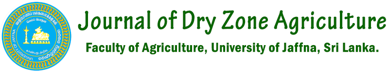 Journal of Dry Zone Agriculture